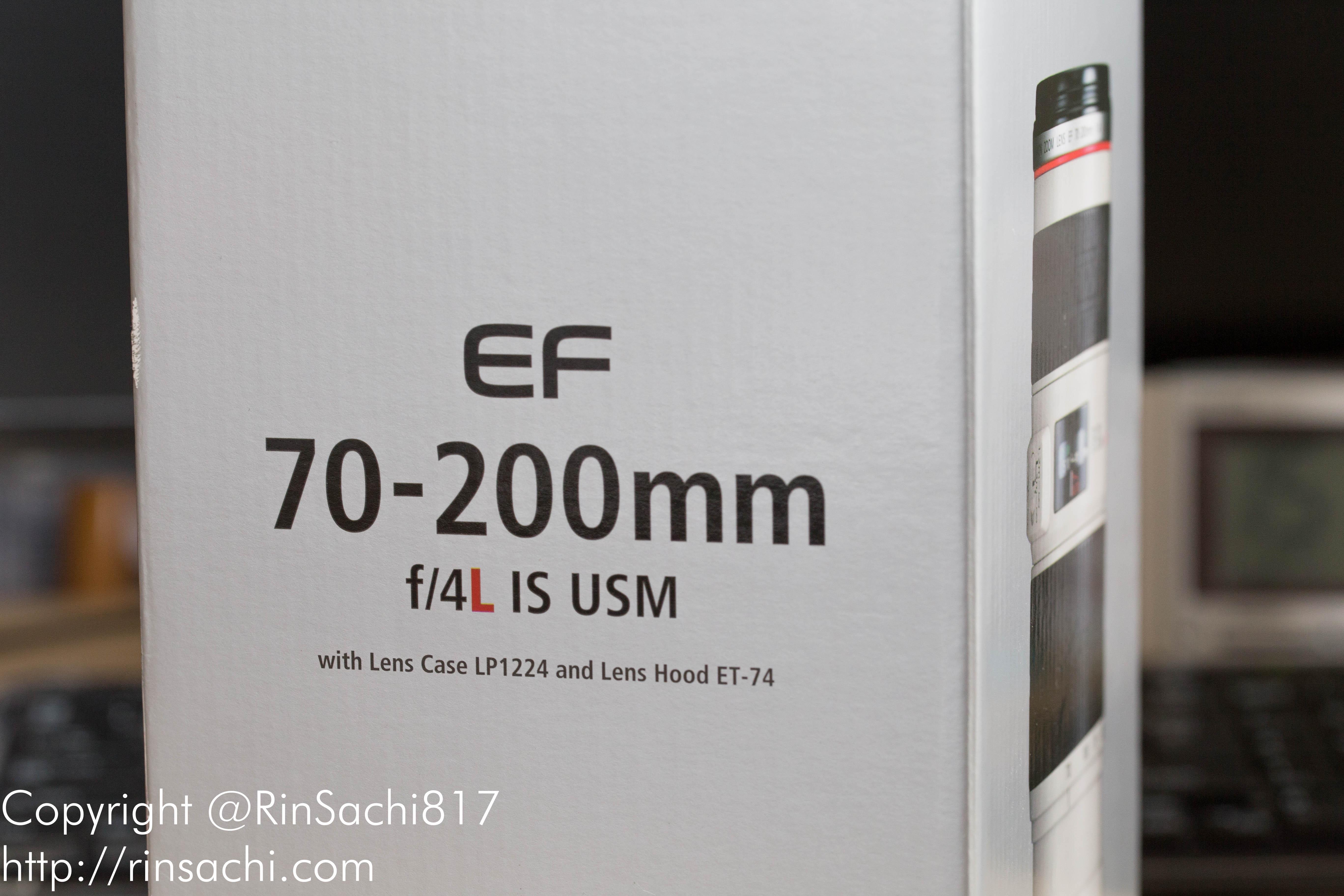 Canon EF70-200mm F4L IS USMを購入!購入に至るまでの経緯と開封&レビューをしていくよ!